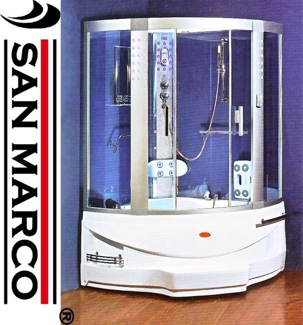 Cabina da bagno combinata box doccia e vasca idromassaggio ...