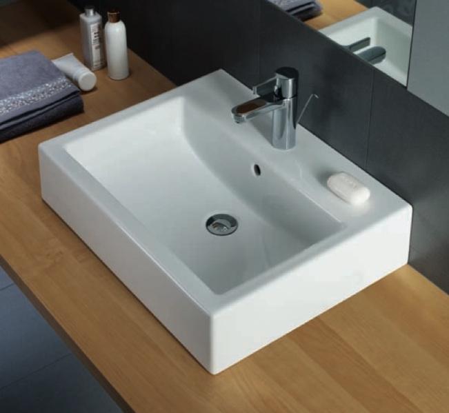 Lavabo lavandino arredo bagno moderno sospeso o appoggio Pozzi ...