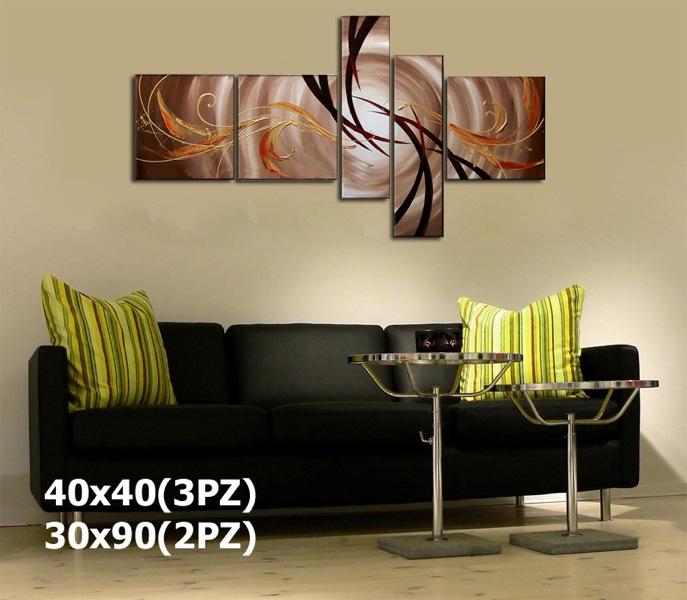 Quadri intelaiati multi formato dipinti a mano su tela in arte ...
