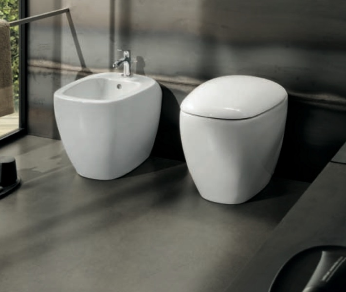 Sanitari filo parete vaso sedile softclose bidet appoggio Citterio ...