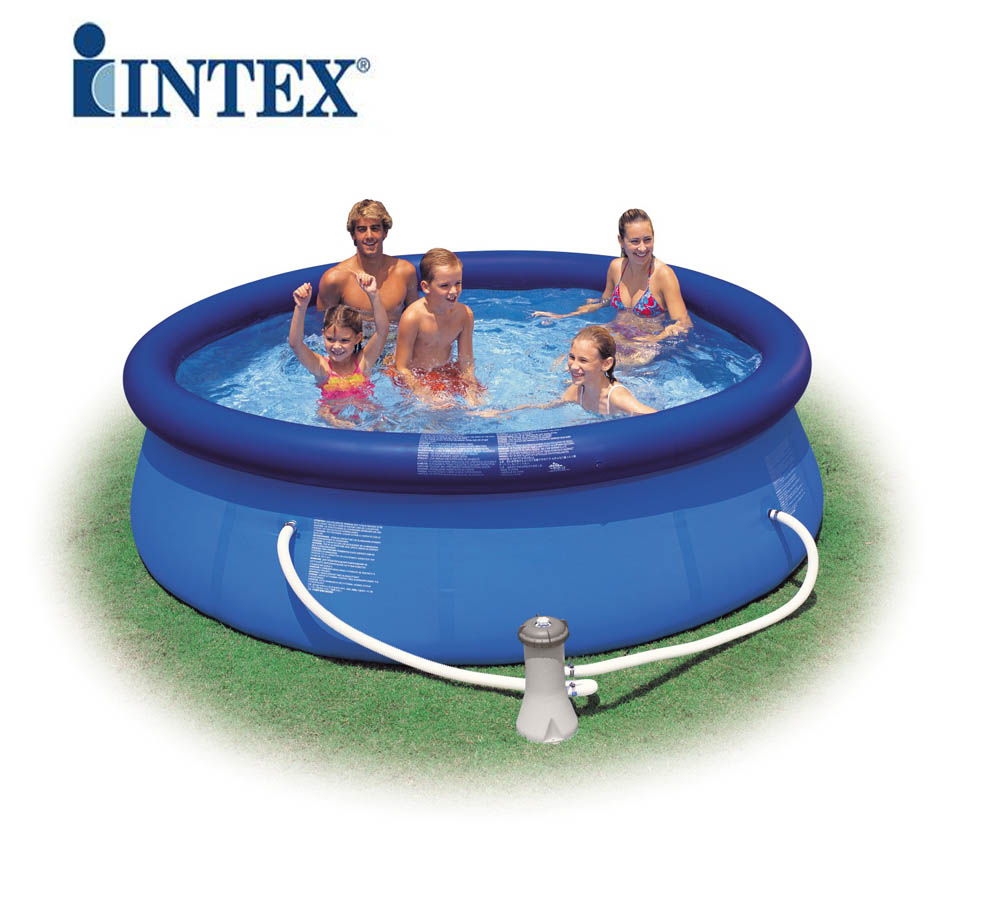 Piscina rotonda easy set cm305x76 intex 56922 fuori terra for Piscina intex easy set