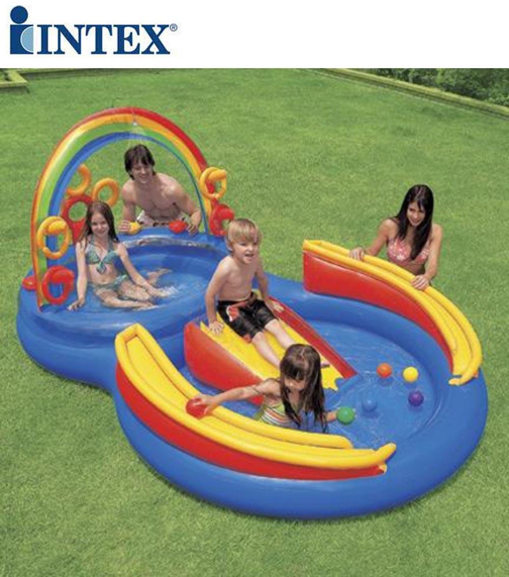 Gioco bimbo piscina gonfiabile intex bambini rainbow ring - Piscina gioco gonfiabile ...