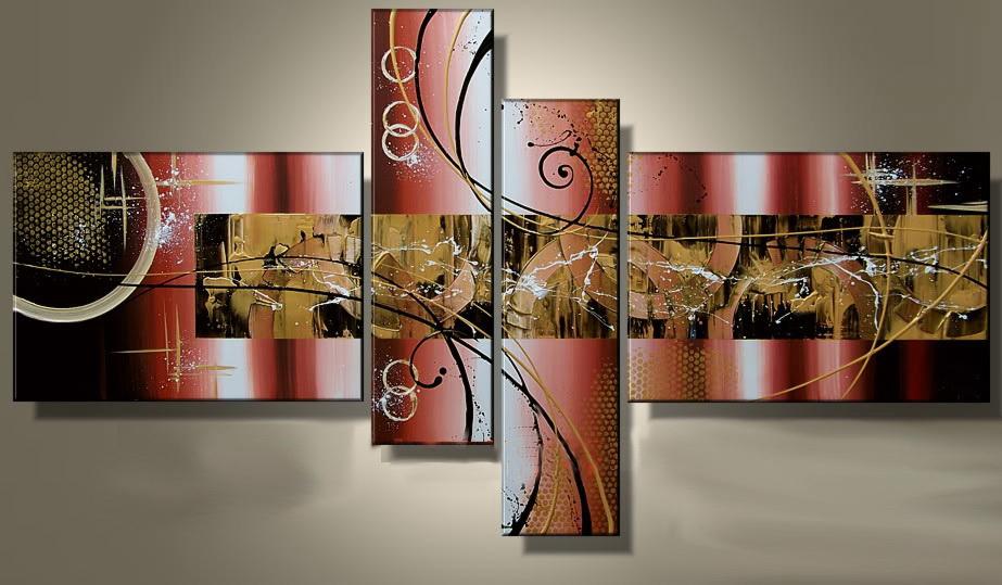 4 quadri arte moderna astratta design contemporaneo for Quadri arte moderna