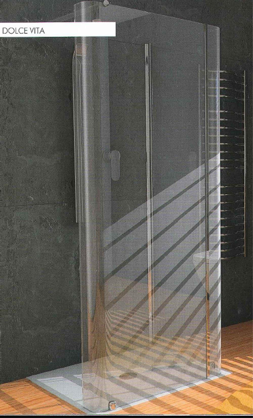 Porta doccia due ante fisse senza profilo per box bagno - Doccia senza porta ...