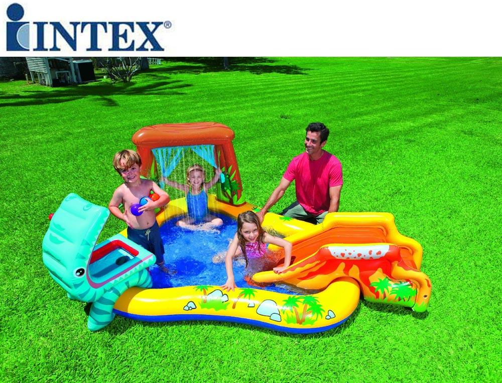 Gioco gonfiabile intex piscina con spruzzo dinosauro - Piscine per bambini piccoli ...