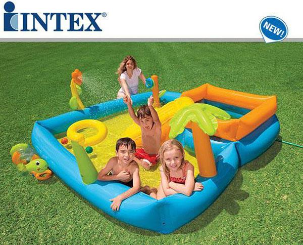 Piscina gonfiabile bambini playground quadrati piscine for Piscine gonfiabili per bambini