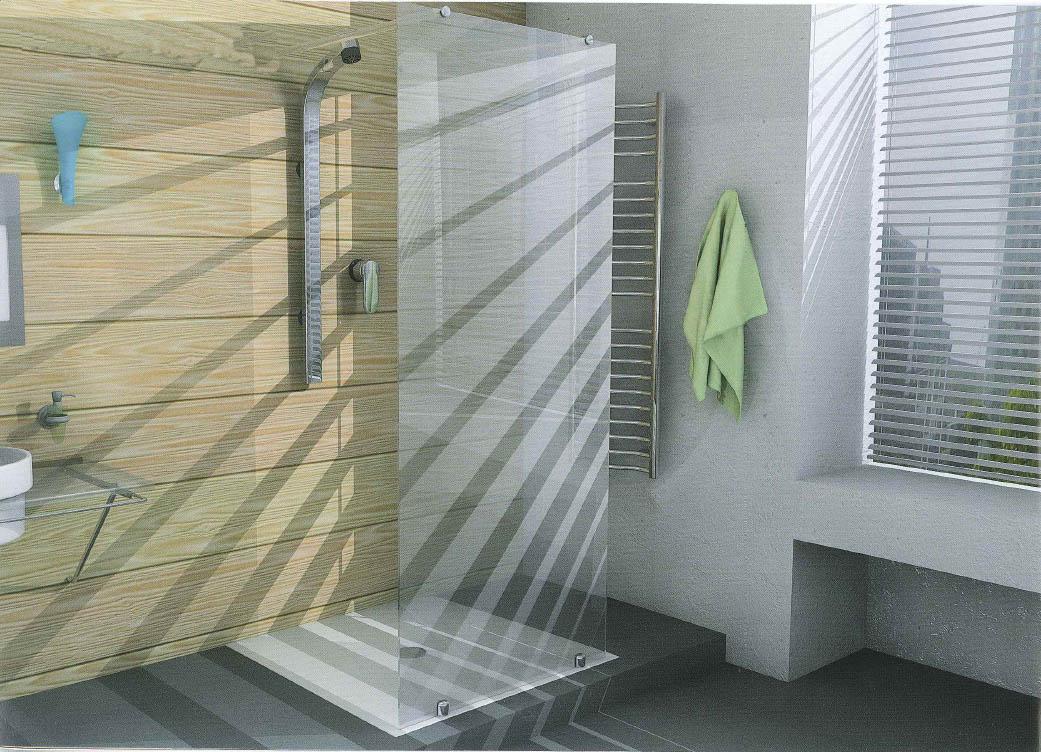 Porta doccia anta fissa vetro temperato da 8 mm sanitari - Doccia senza porta ...