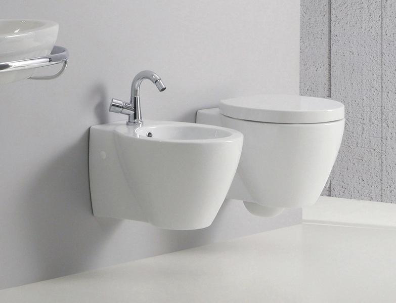 Coppia sanitari bagno vaso coprivaso e bidet sospesi full - Bagno senza bidet ...