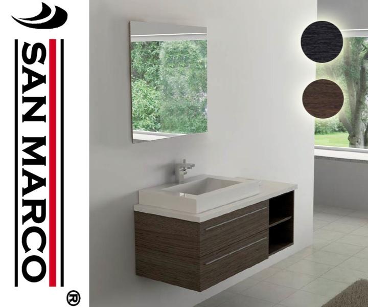 Mobile bagno arredo bagno sospeso 120 cm con 2 cassettoni - Arredo bagno ebay ...