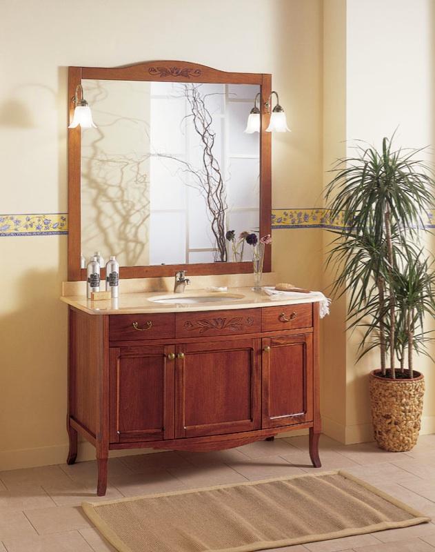 Mobile bagno classico retrò arredo bagno da cm 120 cm artigianale ...