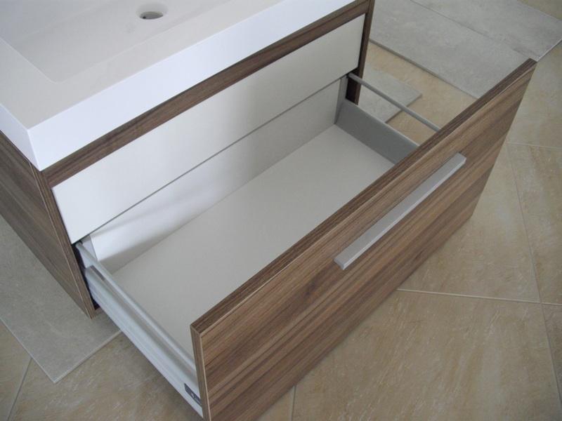 Mobile bagno arredo bagno sospeso 80 cm con 2 cassettoni chiusura ammortizzata ebay - Mobile bagno usato ebay ...