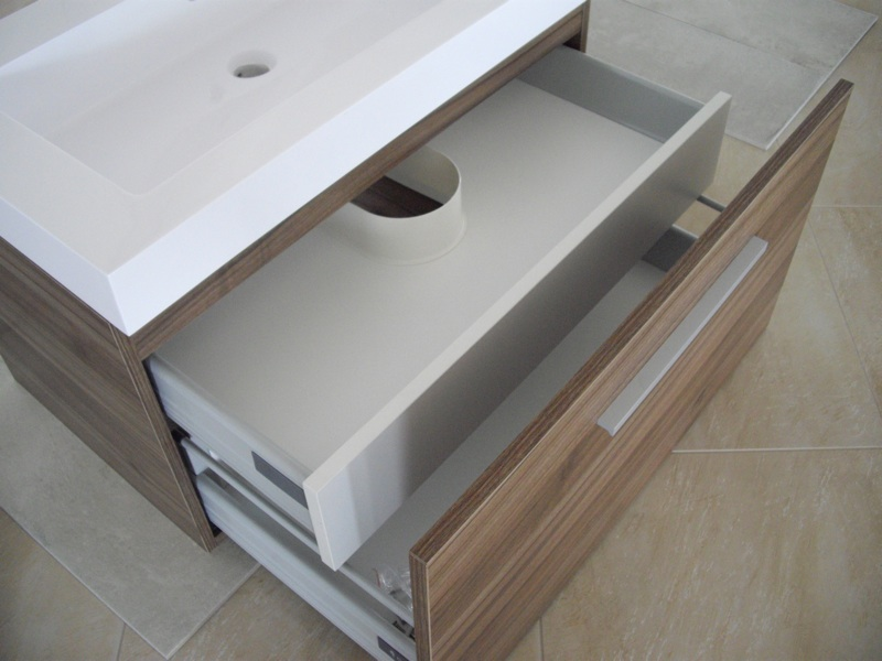 Mobile bagno arredo bagno sospeso 80 cm con 2 cassettoni for Mobile bagno usato