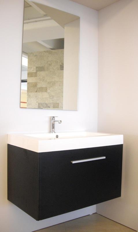 Mobile bagno arredobagno sospeso 60 80 o 100 cm con 2 cassettoni ...