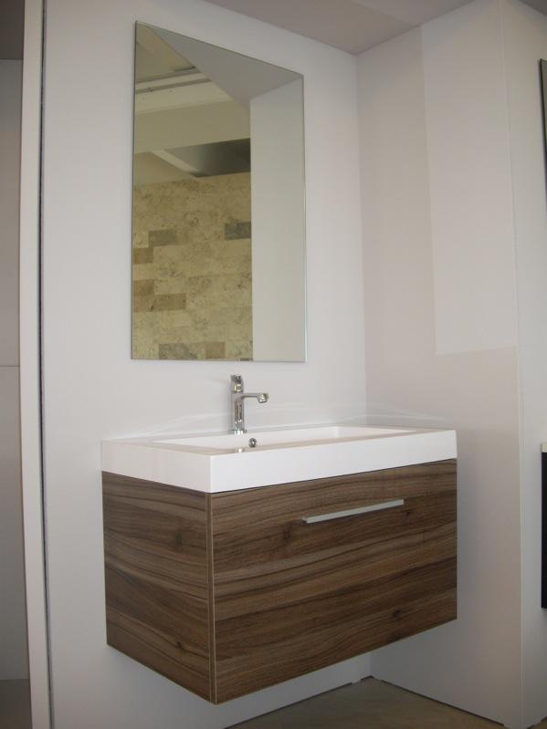 Dettagli su Mobile bagno arredobagno sospeso 60 80 o 100 cm con 2 ...