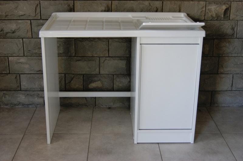 Mobile coprilavatrice con lavatoio da 105 cm in resina per - Mobile coprilavatrice con lavatoio ...