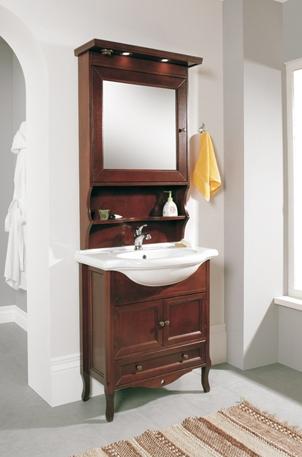 Mobile da bagno finto ciliegio arredo bagno cm 75 cm artigianale ...