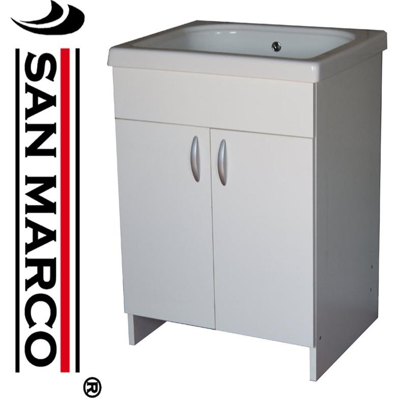 Mobile lavatoio lavapanni pilozza x lavanderia con vasca in ceramica ...