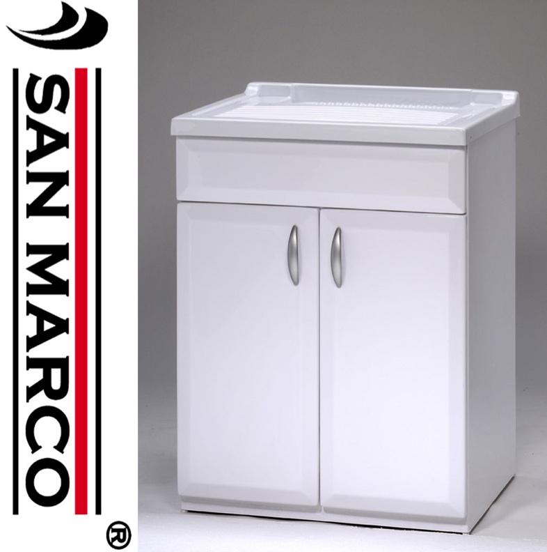 Mobile lavatoio lavapanni pilozza lavanderia in pvc con porta ...