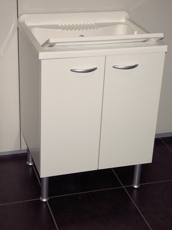 Dettagli su Mobile lavatoio lavapanni pilozza x lavanderia diverse ...