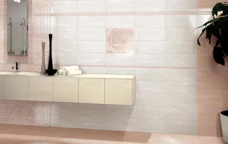 Piastrelle per rivestimento e pavimento ceramica da bagno - Piastrelle bagno rosa ...