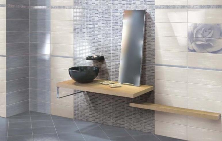 Piastrelle per rivestimento e pavimento ceramica da bagno, 20x50 e 34x34 cm 53ygvwpq (Piastrelle ...