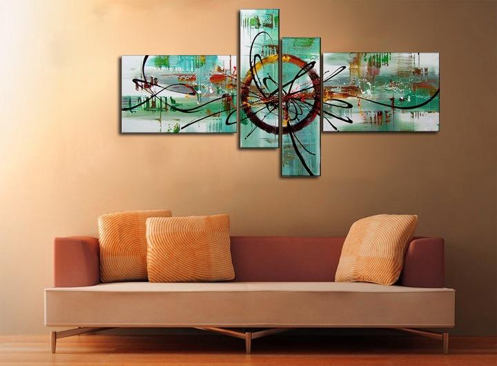 Quadri intelaiati multi formato dipinti a mano su tela in for Quadri arte moderna