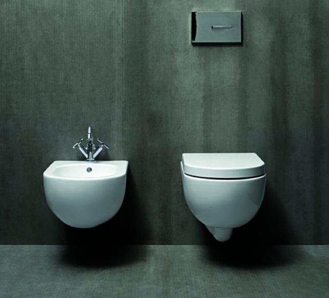 Sanitari da bagno sospesi vaso wc sedile bidet in ceramica ...