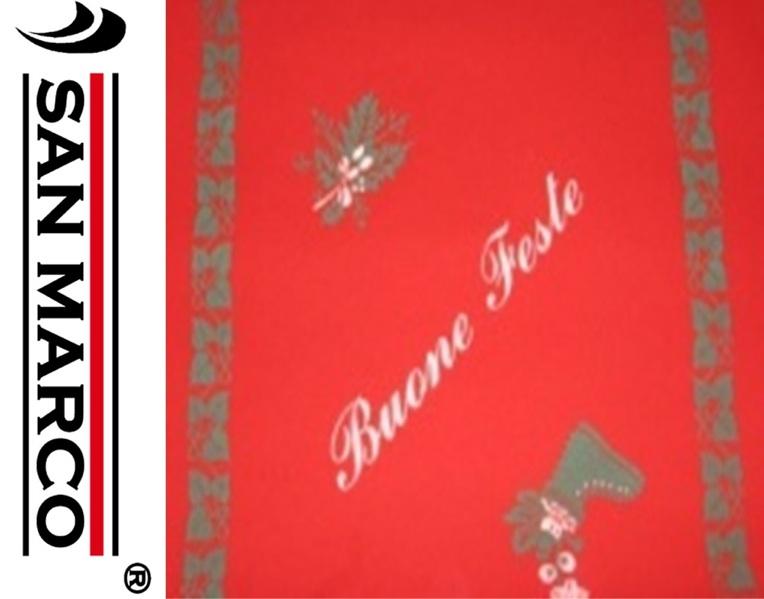 Tappeto passatoia feltro blu rosso o natalizio a metro ...