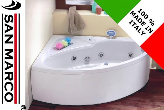 Vasca da bagno non idromassaggio ad angolo 150x100 cm - Bagno con vasca angolare ...