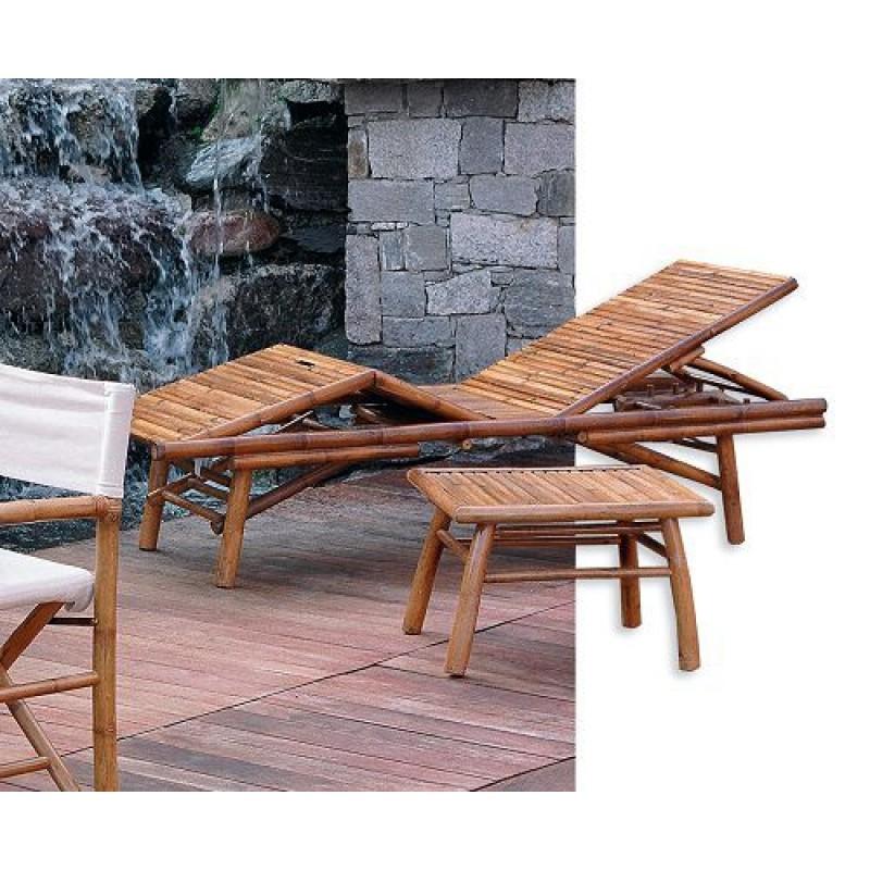 Lettino da giardino in bamb 2 metri san marco for Accessori arredo giardino