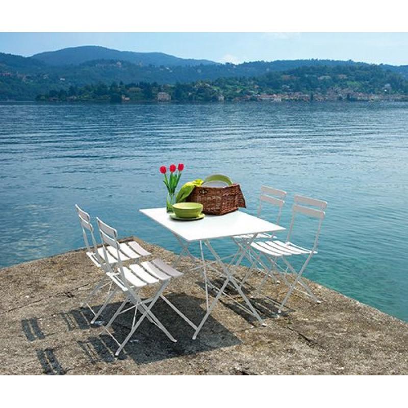 Tavolo da giardino in ferro colorato bistr san marco - Tavolo ferro giardino ...