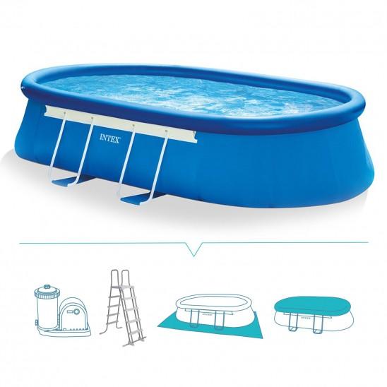 Piscina da esterno intex oval 610x366x122 cm san marco for Catalogo piscine fuori terra