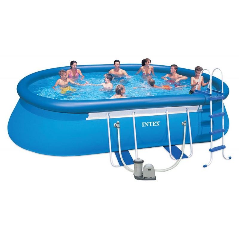 piscina da esterno intex oval 610x366x122 cm san marco