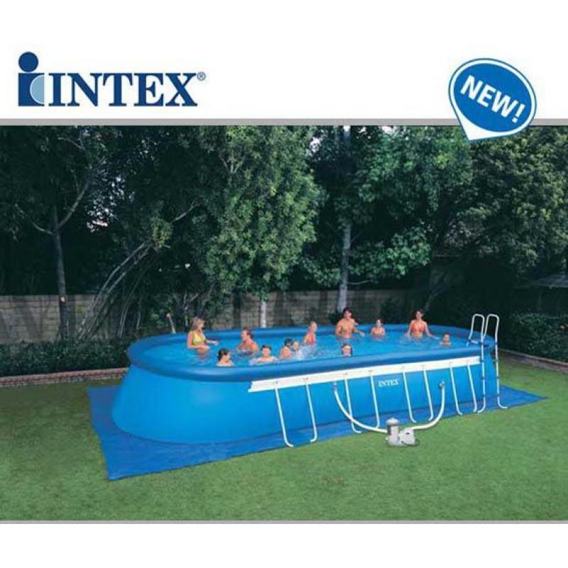 Piscina da esterno intex oval 610x366x122 cm san marco for Piscine fuori terra intex prezzi