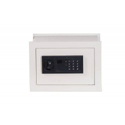 Cassaforte a muro elettronica con combinazione digitale 35x18 cm bianca