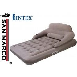 Divano Letto Gonfiabile Intex Airbed con porta bevande