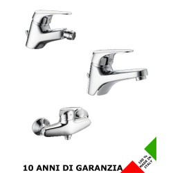 3 Rubinetti per lavabo bidet e doccia Nova Effepi