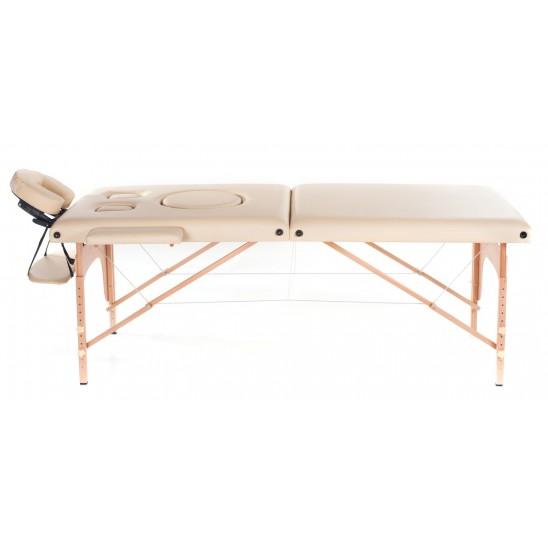 Lettino da massaggio in legno a 2 zone Pre-Maman