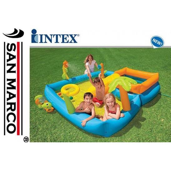 Gioco gonfiabile Intex: piscinetta con scivolo  San Marco