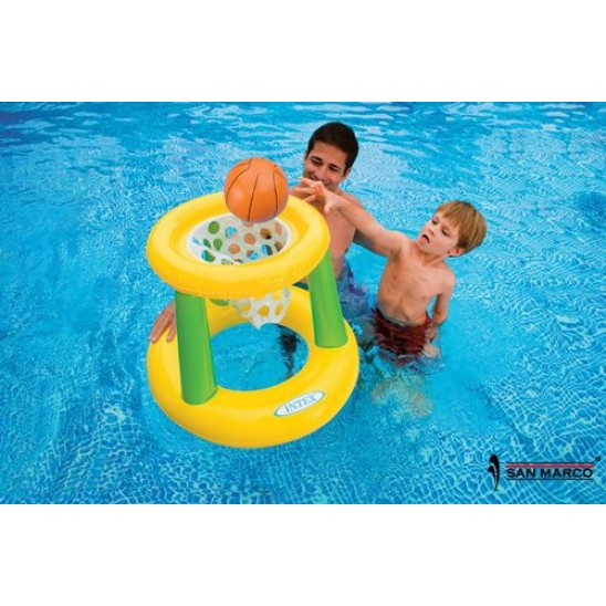 Canestro gonfiabile floating hoops per piscina san marco for Palla gonfiabile per piscina