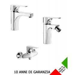 3 Rubinetti per lavabo bidet e esterno doccia Domino Effepi
