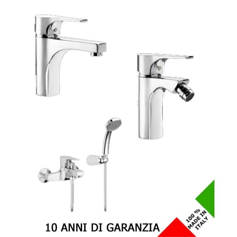 3 rubinetti per lavabo bidet e vasca domino effepi san marco for Rubinetti per lavabo