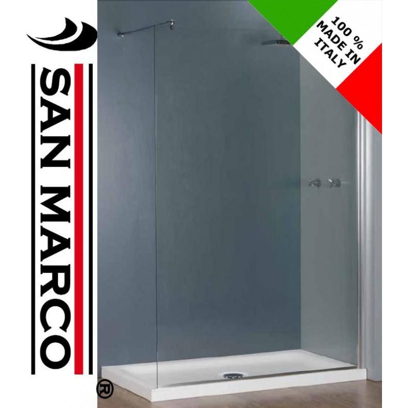 Parete In Vetro Doccia : Parete per box doccia in vetro temperato mm san marco