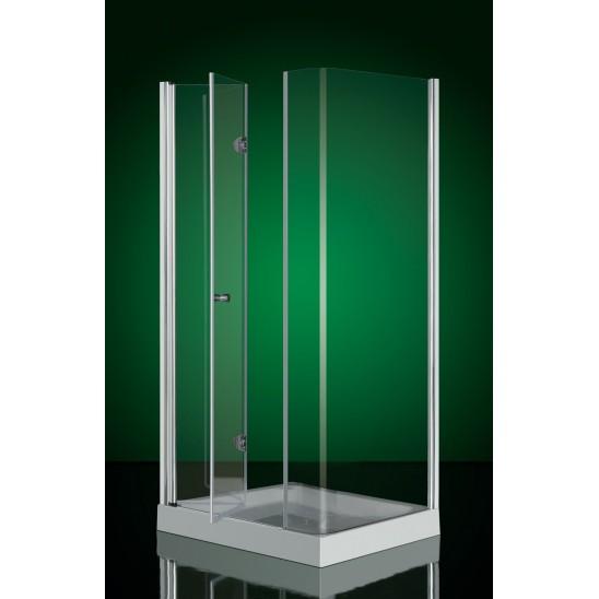 Box doccia angolare varie dimensioni con ante fisse e pieghevoli