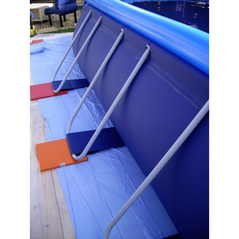 Piscina fuori terra san marco ovale 800x366x122 san marco - Tappeto per piscina fuori terra ...