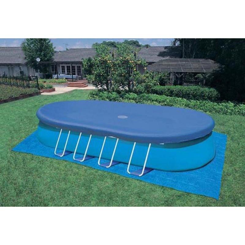 Telo di copertura per piscine ovali da 730x366 cm san marco - Telo copertura piscina ...