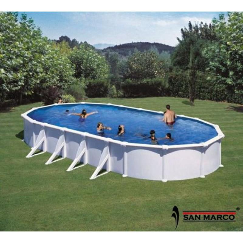 piscina fuori terra gre atlantis 1000x550x132 cm san marco