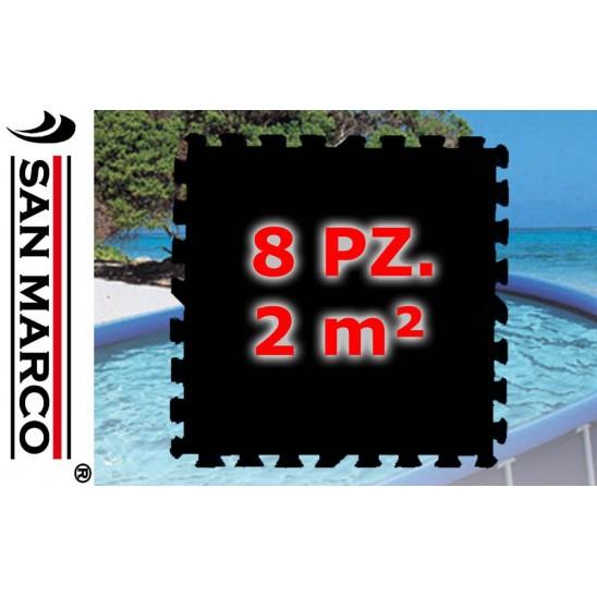 Telo sottopiscina per piscine rettangolari fino a 400 cm - Tappeto per piscina fuori terra ...