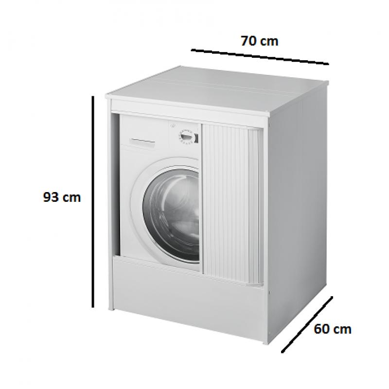 Mobile coprilavatrice in pvc san marco for Mobile sopra lavatrice