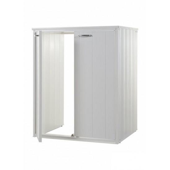 Mobile lavatoio in resina e pvc con ante san marco for Coprilavatrice esterno